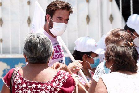 Agradece Pablo Gamboa la confianza que le expresan en el sur y poniente de Mérida