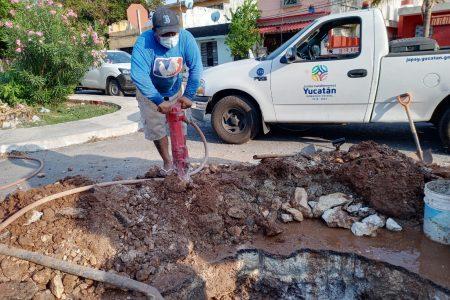 La Japay repara una fuga importante en el sur de la ciudad