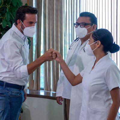 Trabajará Pablo Gamboa para que al personal de salud no le falten materiales de protección