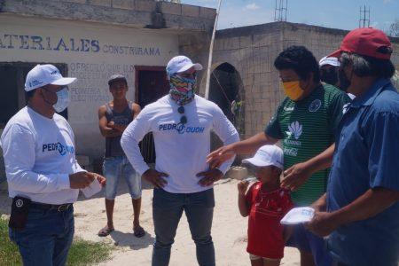 Habitantes de El Cuyo tendrán el respaldo de Pedro Couoh