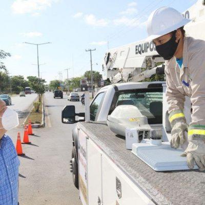 El Ayuntamiento continúa la instalación de luminarias tipo LED en el municipio