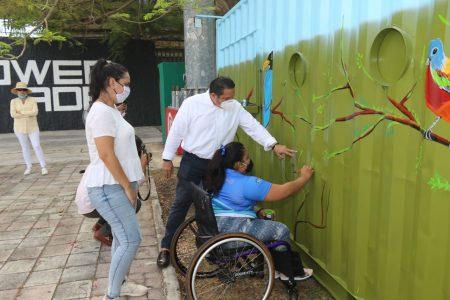 Apoyan atletas paralímpicos nuevo Mega Punto Verde del Ayuntamiento