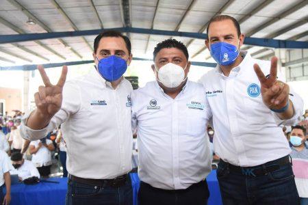 Amplio respaldo de la sociedad y del PAN a su candidato en Kanasín
