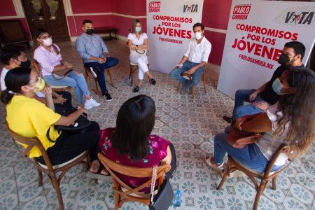 Jóvenes expresan su confianza en las propuestas de Pablo Gamboa