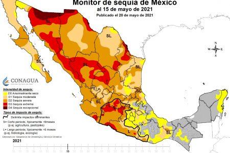 Península de Yucatán, libre de sequía desde hace un año