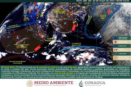 Mejora el tiempo, pero por la tarde volverá a llover en diversas zonas de Yucatán