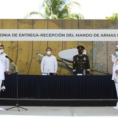 El Gobernador Mauricio Vila encabeza ceremonia de cambio de mando en la IX Zona Naval