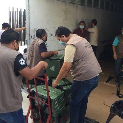 Cuenta regresiva: Salen los paquetes electorales para los comicios del 6 de junio
