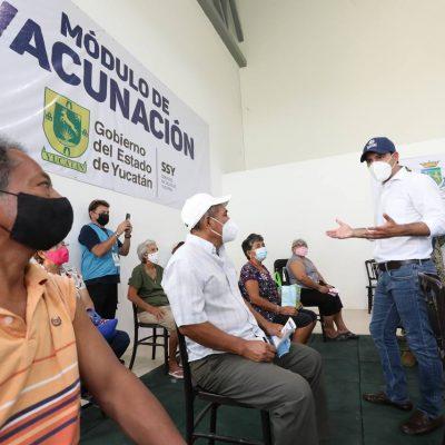 Casi 62 mil personas de 50 a 59 años ya se vacunaron en Mérida