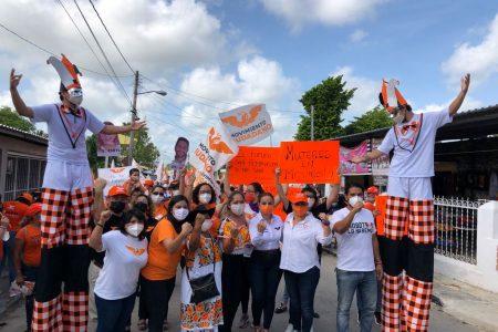 Con un llamado a frenar la violencia política de género, Movimiento Ciudadano cierra campaña en Kanasín