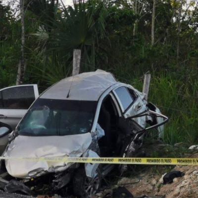Se accidenta en carretera candidato por Bacalar: fallece su esposa y él está gravemente herido