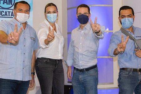 Ricardo Anaya, de visita en Mérida para apoyar a los candidatos del PAN