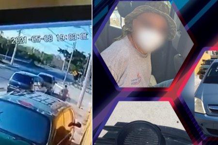 Detienen a sujeto que robó la fascia de una camioneta para venderla en un tianguis de autos