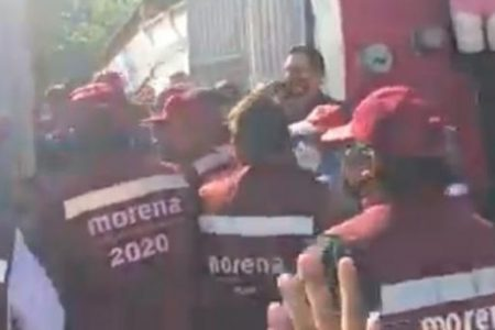 Promotores del voto de Morena en Mérida denuncian que desde hace un mes no les pagan