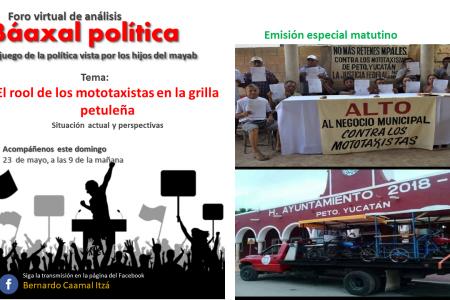 Los mototaxistas: reyes en la campaña, mendigos durante tres años