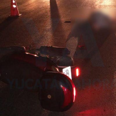Motociclista resulta grave tras accidente en la Mérida-Tixkokob
