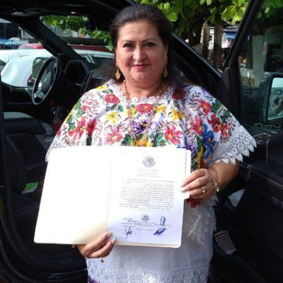 Carmen Navarrete recibe su constancia de mayoría como diputada federal por el V Distrito