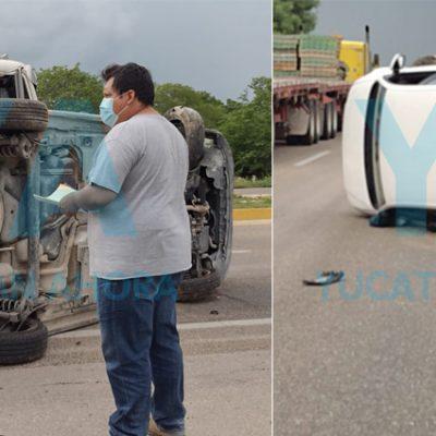 Vuelca un italiano tras dormitar la Campeche-Mérida