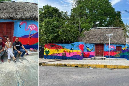 Enrique Chiu, muralista internacional, deja su huella en Yucatán