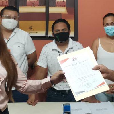Jazmín Villanueva Moo, la única diputada electa de Morena en Yucatán, recibe constancia de mayoría