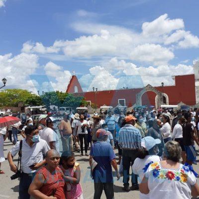 Protestan priistas por la derrota de su candidata en Sucilá