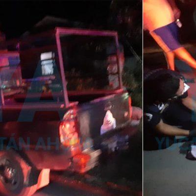 Alcoholizado choca su mototaxi contra una camioneta en Seyé, es hospitalizado