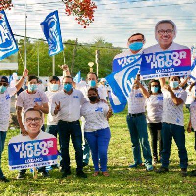La campaña fue un éxito, ahora ganaremos el IV Distrito: Víctor Hugo Lozano