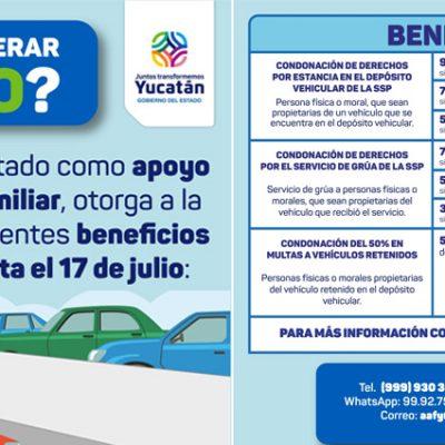 Descontarán 50% en multas a vehículos en el corralón y hasta 90% por estancia