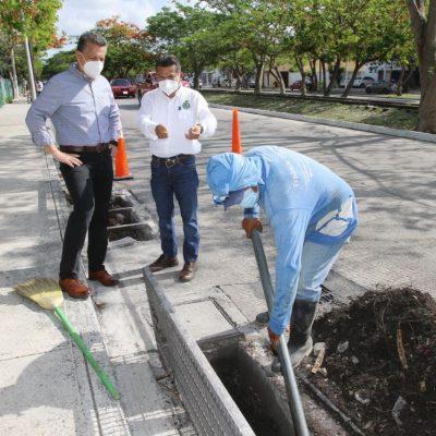 El Ayuntamiento intensifica trabajos de mantenimiento preventivo en toda la ciudad ante la temporada de lluvias