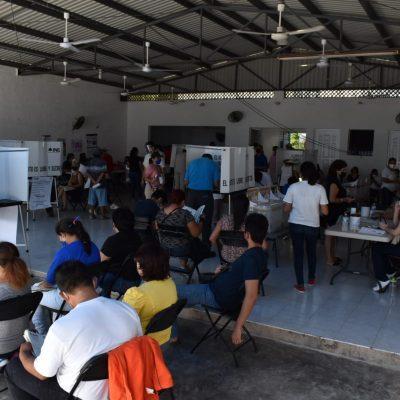 El INE reporta avance del 90% de las casillas instaladas y la votación influye copiosamente