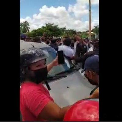 Disturbio deja 29 detenidos en municipio yucateco: cinco tenían marihuana