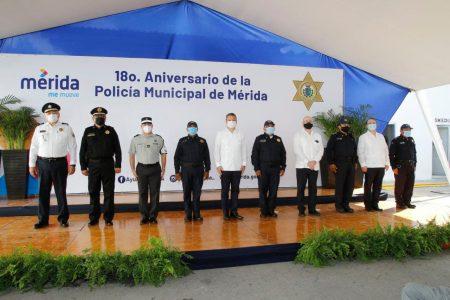 Cumple 18 años la Policía Municipal de Mérida