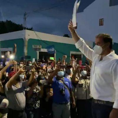 Julián Zacarías recibe constancia de mayoría como alcalde electo de Progreso