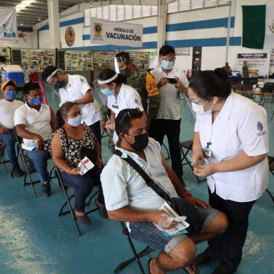 Buena afluencia en la segunda jornada de vacunación contra el Coronavirus en Mérida y el interior del estado