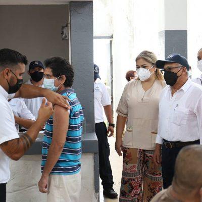 Toda la población penitenciaria de Yucatán cuenta ya con la vacuna contra Covid-19