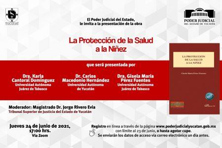 """Presentarán en el Poder Judicial obra editorial """"La protección de la salud a la niñez"""""""