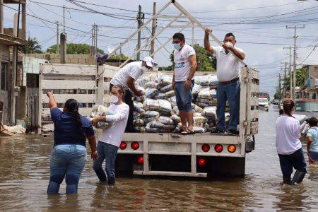 Rápido y oportuno respaldo de Mauricio Vila a familias de Progreso afectadas con las lluvias
