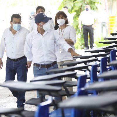 El Gobernador Mauricio Vila anuncia inversión de 70 millones de pesos para mantenimiento de escuelas