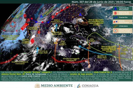 Pronostican chubascos con tormentas fuertes en Yucatán y Quintana Roo
