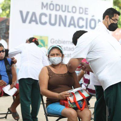 Yucatecos de 50 a 59 años de los 106 municipios han recibido la primera dosis contra Coronavirus