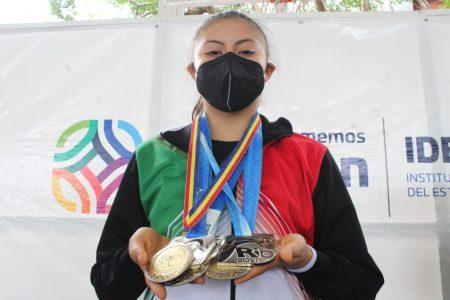 La gimnasta Adirem Tejeda es bien recibida tras destacar en el Panamericano de Brasil
