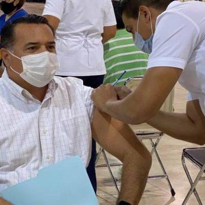 Renán Barrera ya está vacunado contra Covid-19: hoy recibió su primera dosis