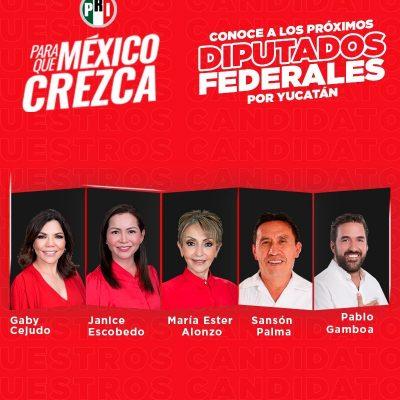 El PRI se queda sin diputaciones federales por mayoría en Yucatán