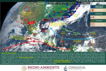 Pronostican otro día de lluvias intensas en Yucatán; anoche en Progreso cayeron 162 mm