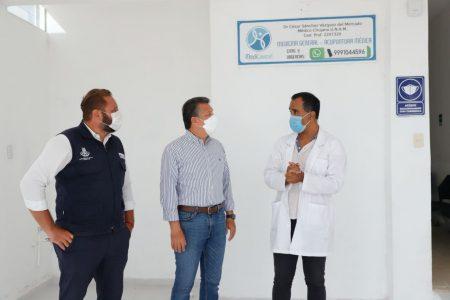 El alcalde Alejandro Ruz Castro supervisa apoyos entregados a través del programa 'Impulsa Mérida'