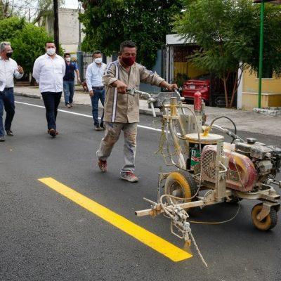 Juntos seguimos dotando de infraestructura urbana a Mérida: Renán Barrera
