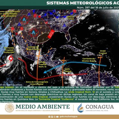 Seguirán las lluvias este domingo en Yucatán