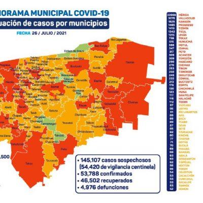 Solo el municipio de Quintana Roo está libre de Covid-19 en Yucatán este 2021
