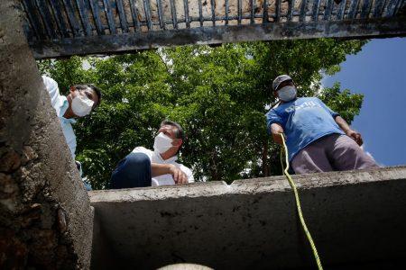 El Ayuntamiento desazolva pozos, bachea y limpia calles de Mérida