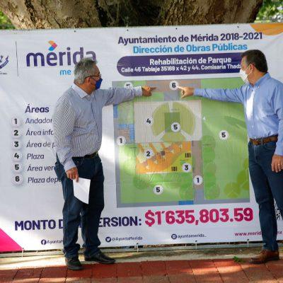Transforman el entorno urbano en colonias y comisarías del sur de Mérida